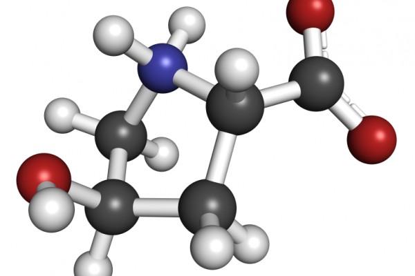 Hydroxyproline (Hyp) amino acid. Essential component of collagen