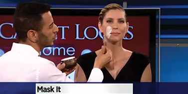 Applying an OROGOLD mask on CBS News