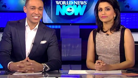 Hosts of ABC News on air for the Try-Day Friday Segment