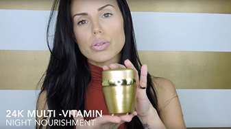 Melissa Pereira holding the OROGOLD Multi-Vitamin Night Nourishment