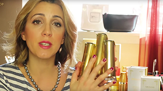 Josephine Fusco holding the 24K Exclusive Eye Collection